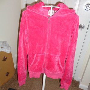 Juicy Couture Deep Pink Zippered Hoody, Sz M